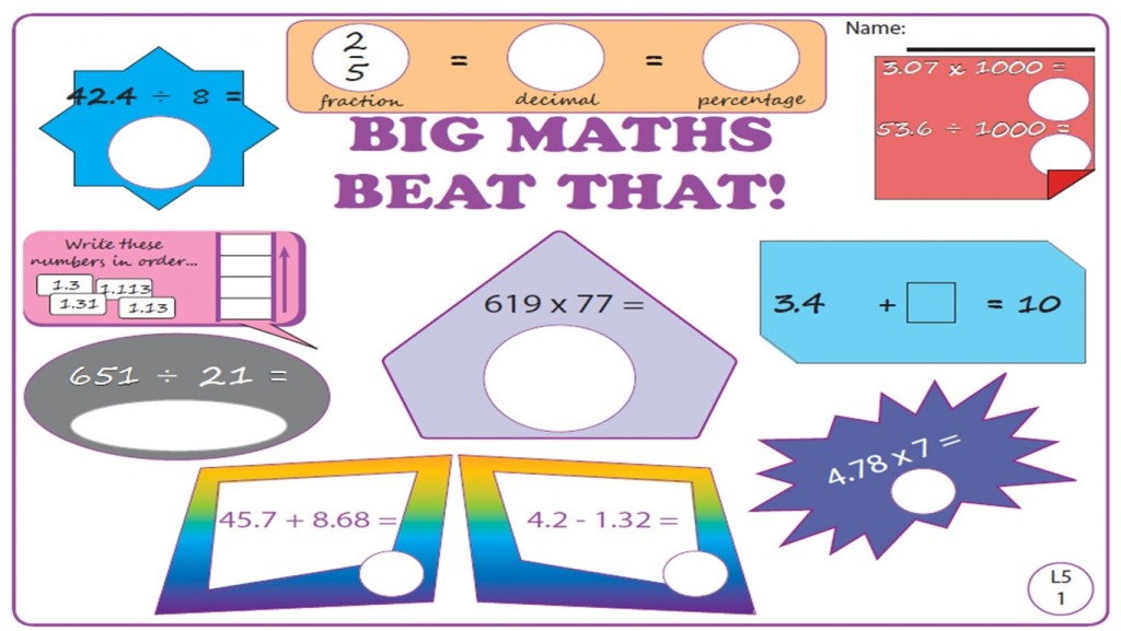 Big Maths – Level 5 Maths Worksheets